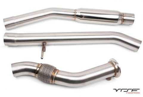 VRSF M57 Downpipe & Midpipe Combo Upgrade for 2008 – 2013 BMW X5D & X6D E70/E71