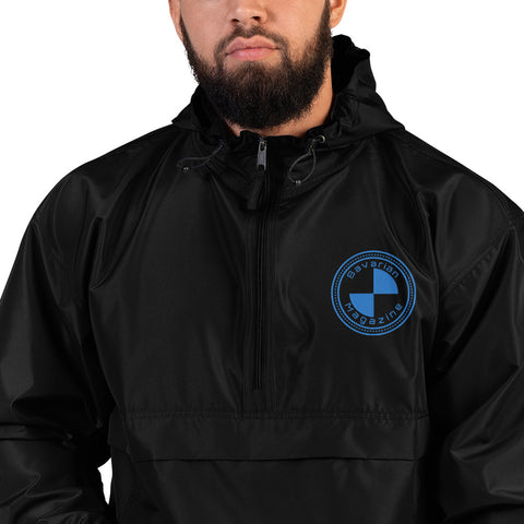 Bavarian Magazine Blue Logo Embroidered Champion Packable Jacket (3 Colors)