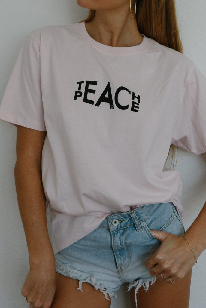 Teach Peace (pale pink)