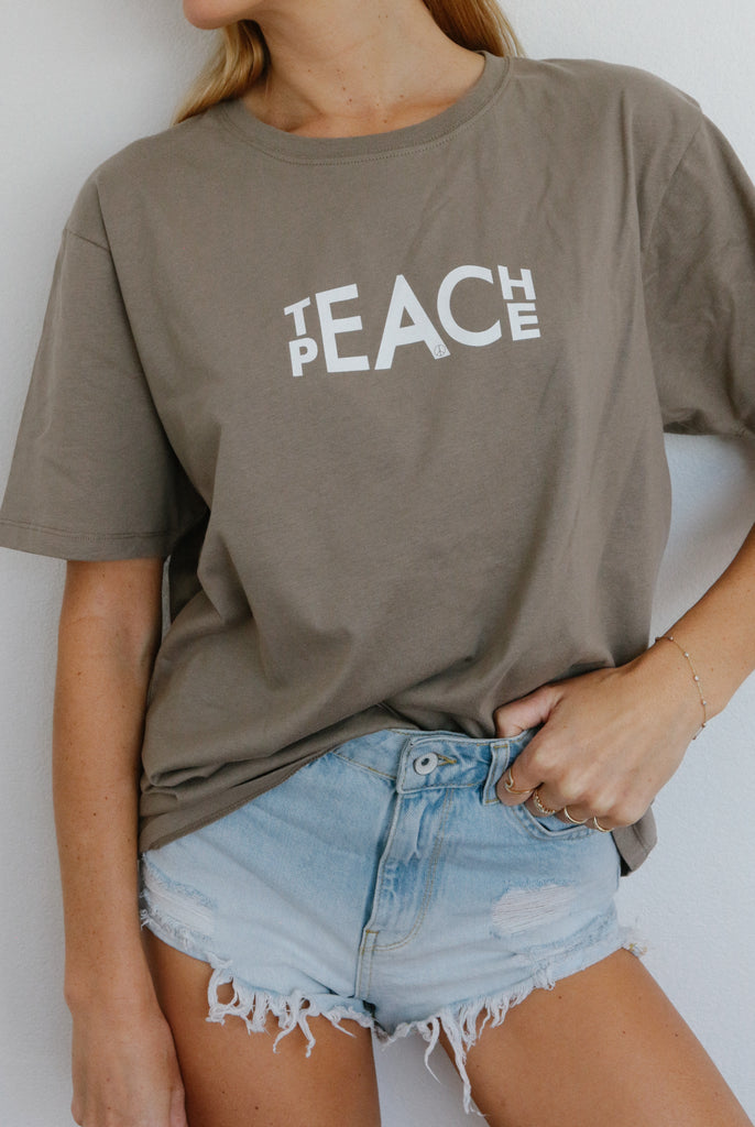 Teach Peace (walnut)