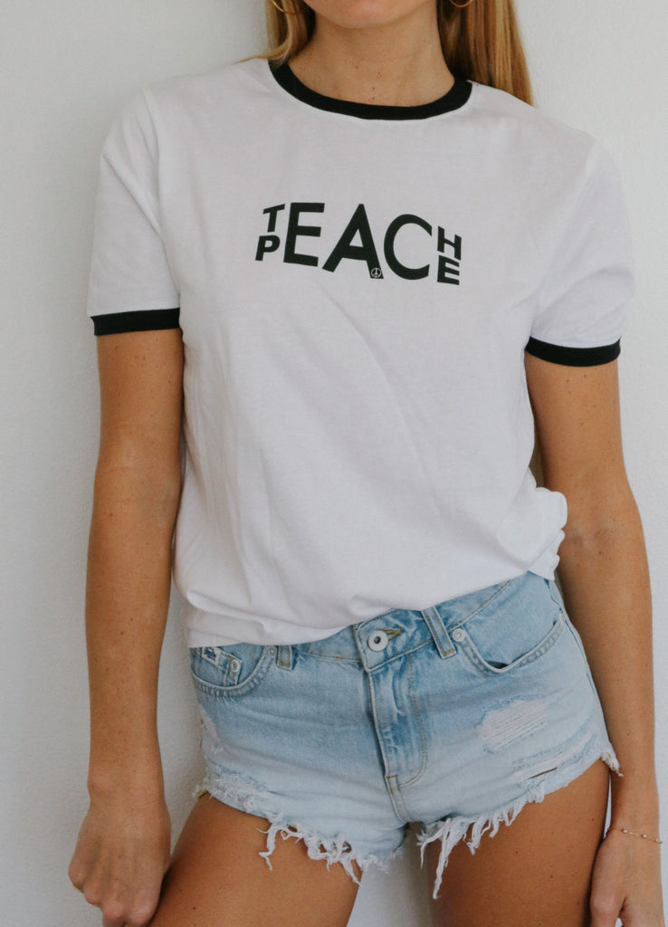Teach Peace (black trim)