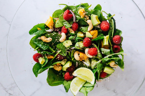 Raspberry Summer Protein Salad