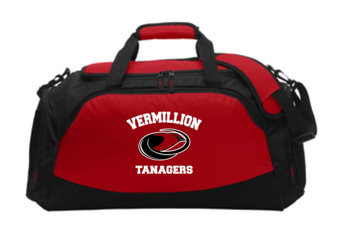 Vermillion Tanagers Medium Active Duffel