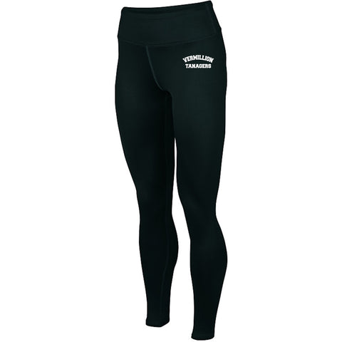 Vermillion Tanagers Augusta Ladies Hyperform Compression Tights