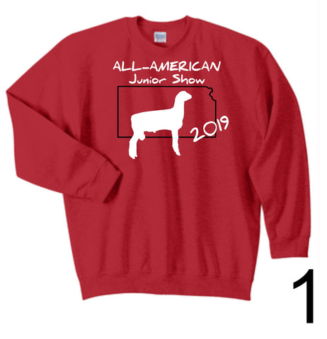 AAJS 2019 Kansas Design - Gildan® - Youth Heavy Blend™ Red Crewneck Sweatshirt