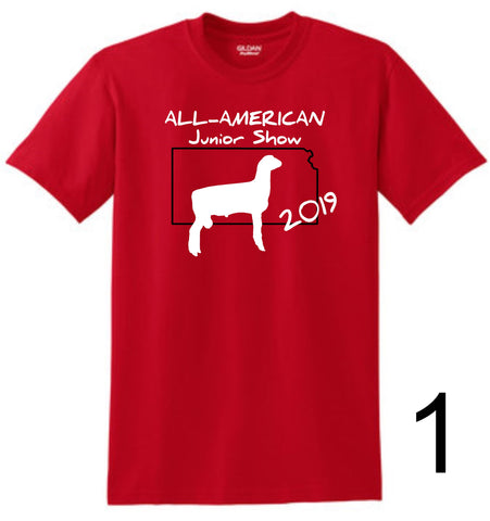 AAJS 2019 Kansas Design - Gildan® DryBlend® 50 Cotton/50 Poly Red T-Shirt