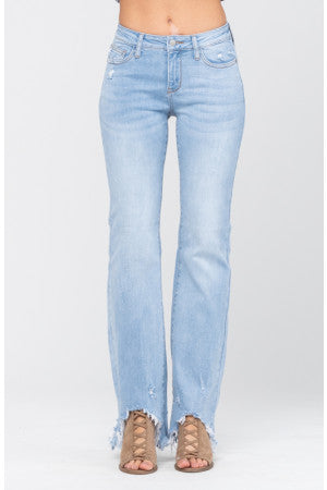 Eunina Bella super high rise distressed jean