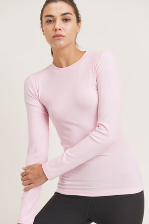 Fitted light pink top