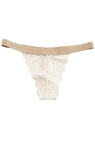 Cute all over lace thong, low rise, mesh back, no back coverage