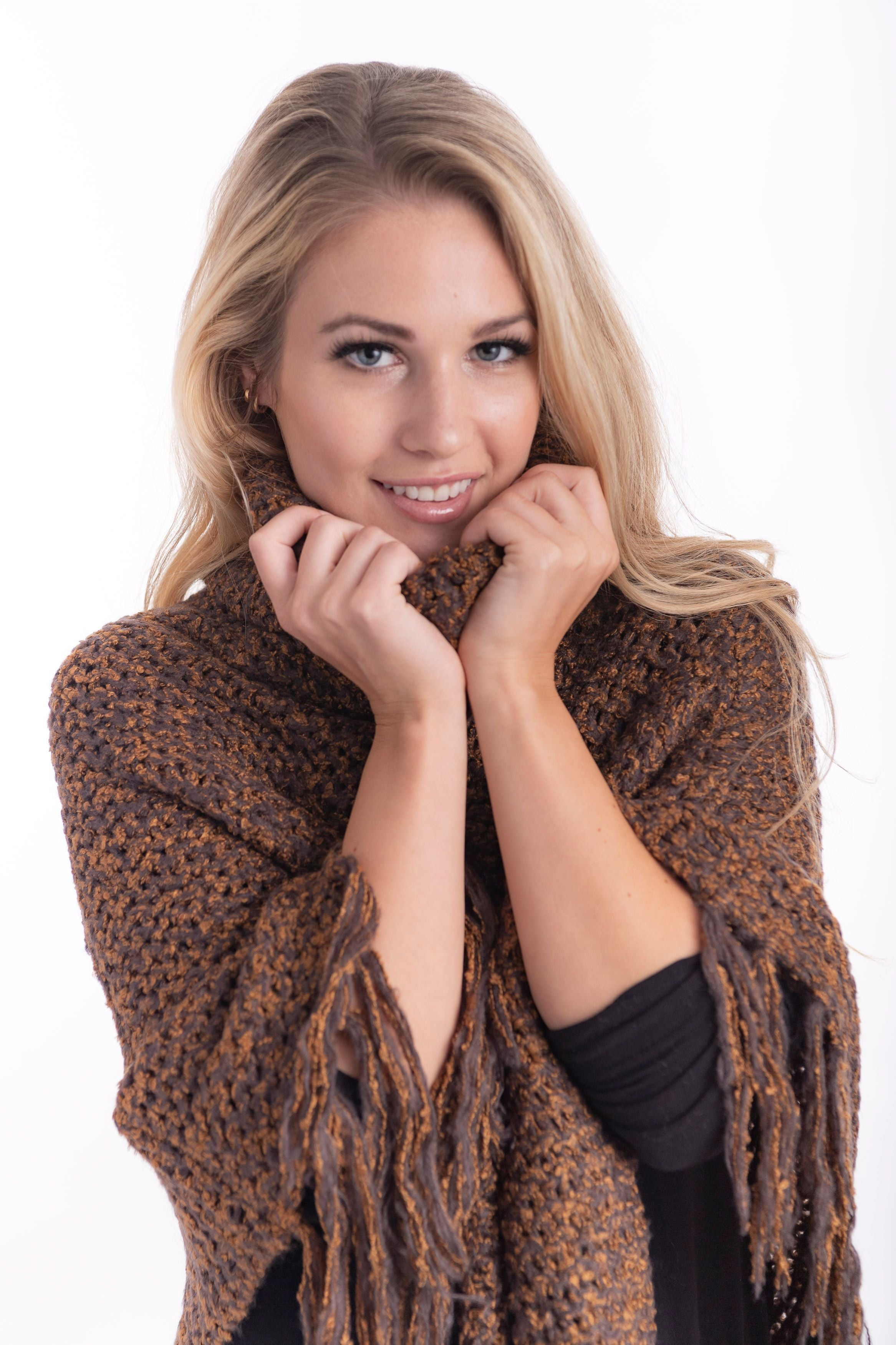 Cienna turtleneck poncho sweater