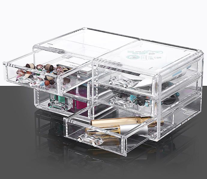 Clear Acrylic Cosmetic Jewelry Organizer-4 Layers - The Daily Splurge