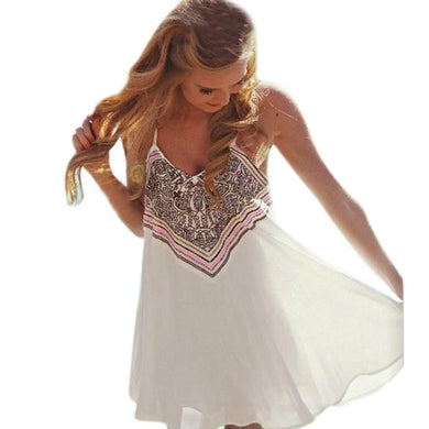 White Summer Dress / Beach / Boho - The Daily Splurge