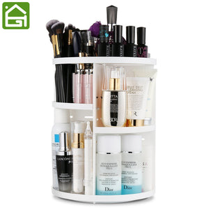 360 Degree Rotation Adjustable Makeup Organizer-Large - The Daily Splurge