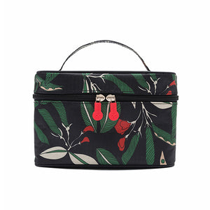 Floral Storage Bag- Waterproof Travel Makeup Organizer Case - The Daily Splurge