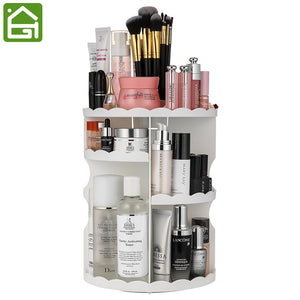 360 Degree Rotating Makeup Organizer-Adjustable Multi-Function Cosmetics Storage - The Daily Splurge
