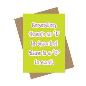 C*NT GREETING CARD