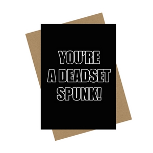 DEADSET SPUNK GREETING CARD