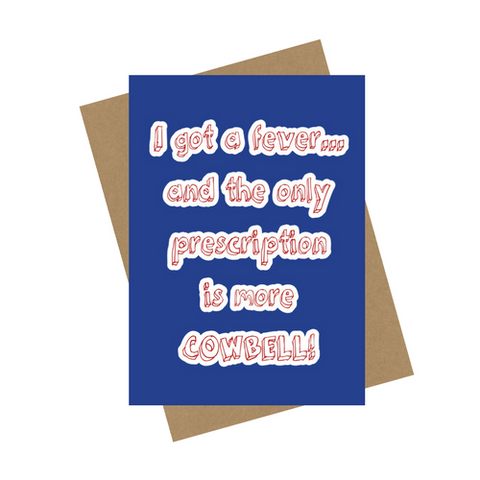 COWBELL GREETING CARD