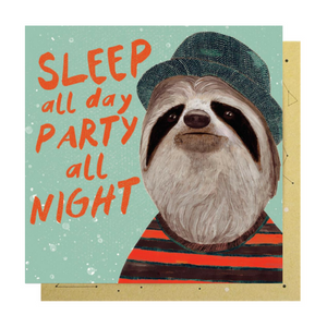 ALL NIGHT SLOTH CARD