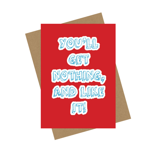 NOTHING GREETING CARD