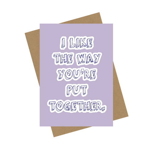 PUT TOGETHER GREETING CARD