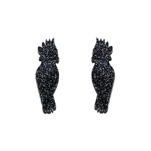 BLACK COCKATOO STUDS