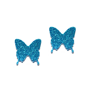 BLUE MOUNTAIN BUTTERFLY STUDS - Oh My Gum Designs