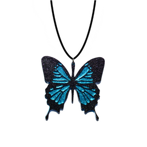 BLUE MOUNTAIN BUTTERFLY NECKLACE - Oh My Gum Designs