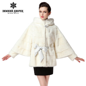 2016 Best Seller white fur coat,Genuine Leather,Bat Sleeved, Women brands mink fur coat, winter Fashion mink coat for women