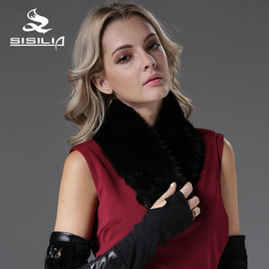 2016 New Mink Fur Scarf Mink and Suede Muffler 100% Real Natural Fur Scarf Fashion Scarf Fur Black Color