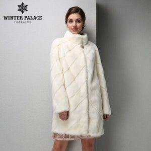2017 Fashion Women mink coat short leather mink fur coat black fur coat Slim real fur coat WINTER PALACE