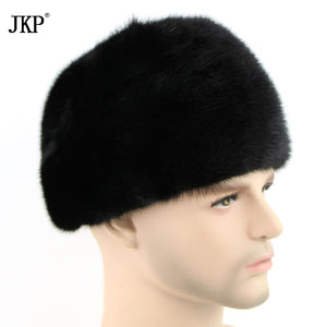 2017 Russian fashion Men's Hats High Quality Royal Mink Fur Authentic Winter Spring Hot Fashion For Men  ZD-03