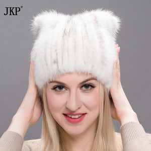 2017 Winter women's hat genuine natural mink fur hats fashion brand new hats women's thick warm cap hats  Russian caps  DHY17-11