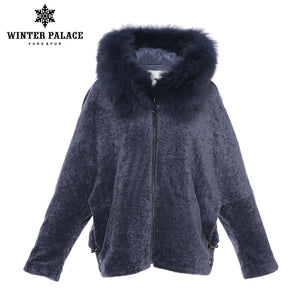 Sheep Shearling Coat. Fashion Wool coat Knitted Merino Sheep Fur wool coat women Great value for money Solid winter fur coat WINTER PALACE