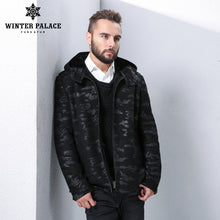 Sheep Shearling Coat. 2017 fashion fur coat winter coat men sheepskin coats men fur coat men Style Turtleneck Military fur jacket