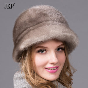2017 hot models whole skin mink fur hat excellent Yabei Lei noble lady fashion wild warm hat ear capDHY-57