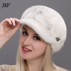 2017 hot winter season Elegant All Real Mink Fur Hats For Women Fur High Quality Solid Hot Pump Female Bonnets  DHY17-26