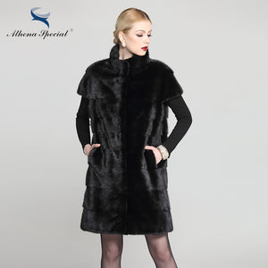 Fur Vest. Special Brand Women Natural Mink Fur Vest Coat, Women's Real Mink Vest With Stand Collar, Genuine Fur Vestido Vest