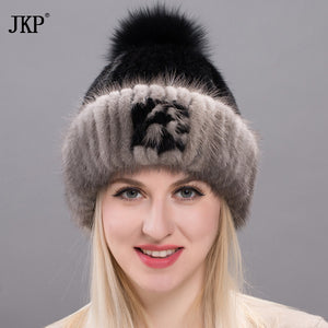 2a2f7e344 Fur Mink Grass Lady Girl Hats for Women Manual High Sew Archive Winter  Keeping Hot Fox Female Tassel Hat Female DHY17-18