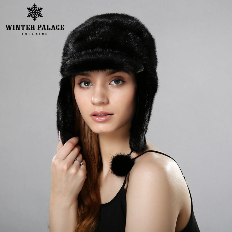 4901d1a3356 fur hats for winter women whole real mink fur hat with 2017 luxury.