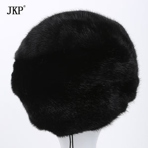 Genuine mink fur hat female winter all imported mink fur hat floral pattern in 2017 Russia's high-end luxury women hat DHY-49
