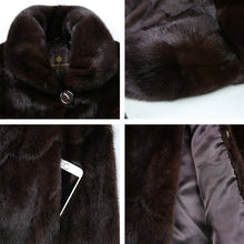 Natural furs women fur coats Fashion long genuine coat mink fur coat real mink fur coat Thick Warm  Turn-down Collar