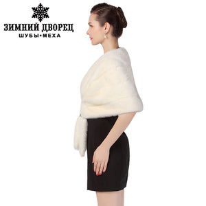 New Fashion Winter Ladies Fur shawl,Black and white brown Tippet,fur  shawl, upscale banquet shawl,mink shawl