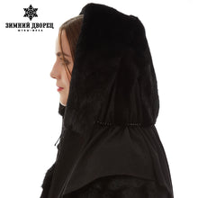 New arrival Cute mink fur hats Warm winter Black fur hats Fashion russian fur hat real mink fur hat for winter women