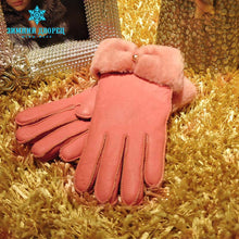 New promotio2016 gloves sheep fur gloves female manual brand fashion mittens women winter mittens women gloves leather gloves