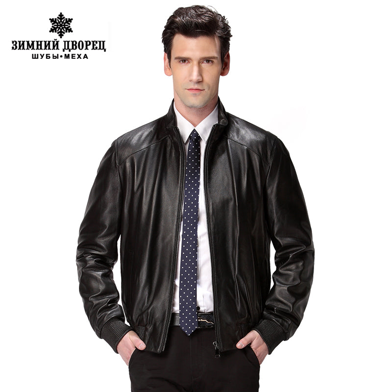 Popular fashion in 2016 a new leather jacket,Genuine Leather,Sheepskin,motorcycle man coat,Leather jacket men,biker jacket