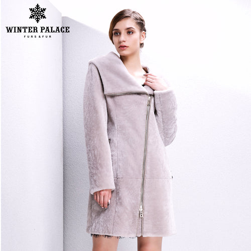 Sheep Shearling Coat. Real fur  women fur coat Fashion Slim Fur women winter jacket winter coat women sheepskin coat Sheep Shearing Coat