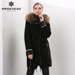 Sheep Shearling Coat. Real fur women sheepskin coat Fashion Slim Fur sheepskin coat winter fur coat Double-faced fur coat WINTER PALACE