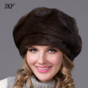 Real mink fur hat and diamond 2016 new fashion cap octagonal Russian sable Pi Beilei good quality elegant hat DHY-70