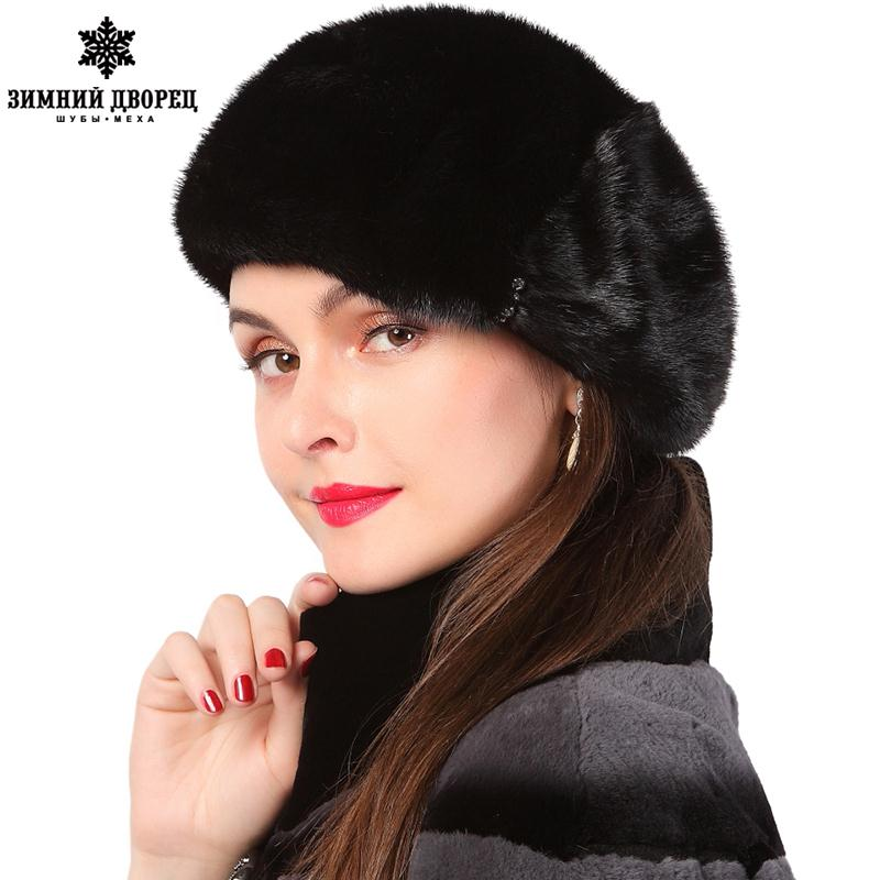 a399c4ec0fe ... Real mink fur hats for winter women fur cap with diamond 2015 new  fashion octagon mink ...